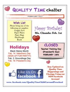 February Newsletter Smithfield