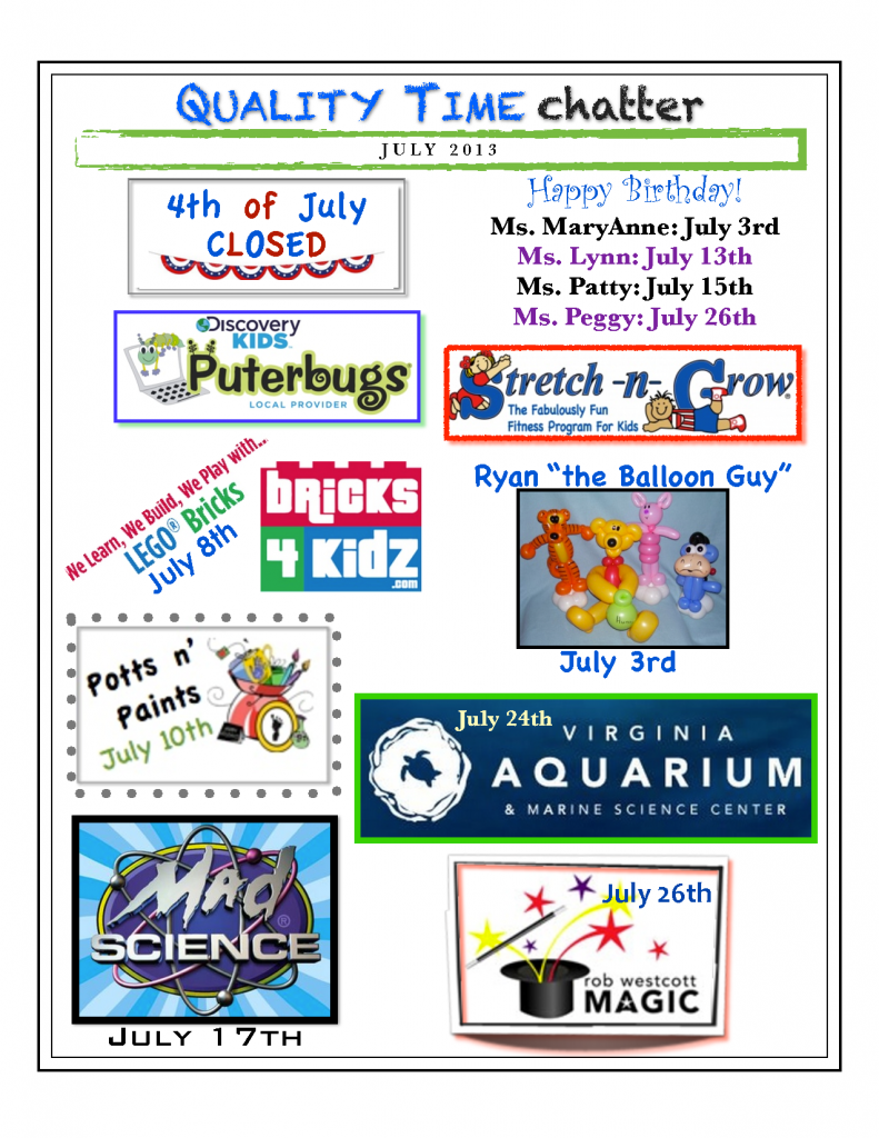 Suffolk July Newsletter