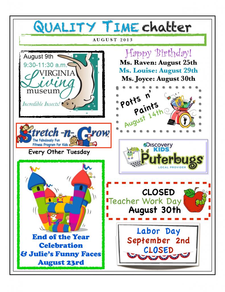 August Newsletter Smithfield VA